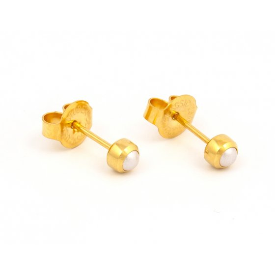 7511-0301 REGULAR BEZEL PEARL GOLD PLATED