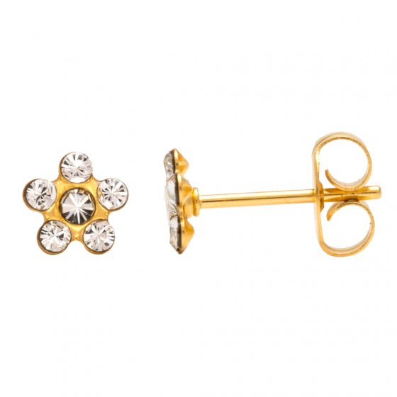 7581-6004 GOLD PLATED BABY DAISY APRIL CRYS