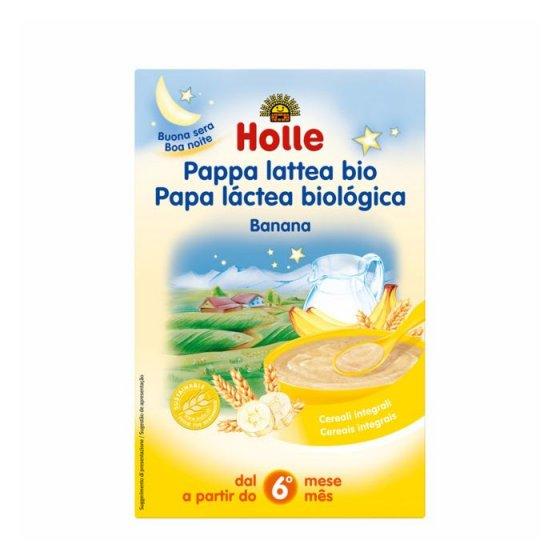 Holle Bio Papa Lactea Banana 6m 250g