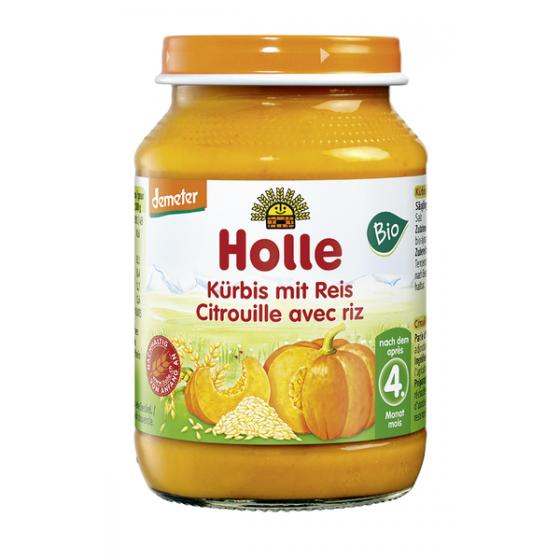 Holle Bio Pure Abobora Arroz 4m Boiao 190g