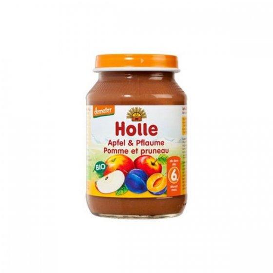Holle Bio Pure Maça Ameixa 6m Boiao 190g