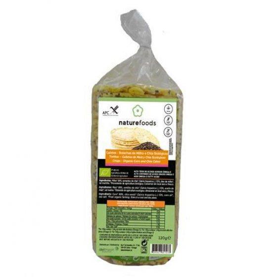 Naturefoods Galetes Milho Chia Bio 120g
