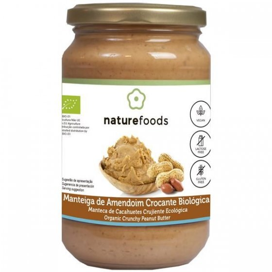 Naturefoods Manteiga Amendoim Bio Cr. 350g