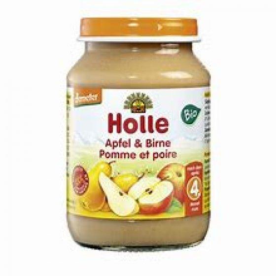 Holle Bio Pure Maça Pera 4m Boiao 190g