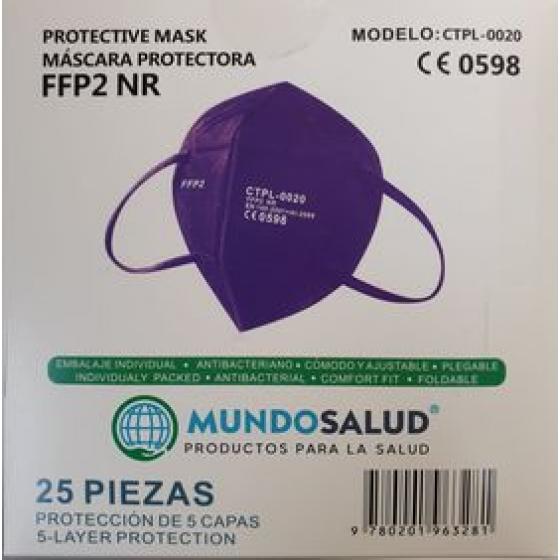 Máscara FFP2 Roxa 25unid