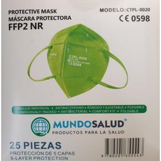 Máscara FFP2 Verde 25unid