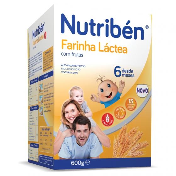 Nutribén Farinha Láctea com frutas 600g