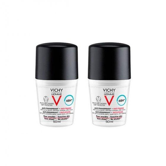 Vichy Homme Duo Desodorizante Antimanchas 48h 50 ml