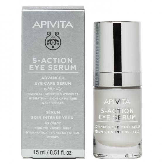 Apivita 5-Action Eye Serum - Sérum de Olhos Intensivo 15ml