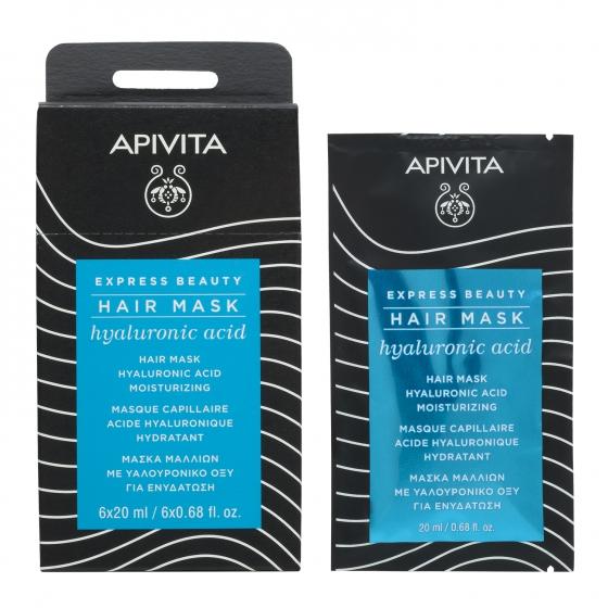 Apivita Express Beauty Máscara Capilar Hidratante Com áCido Hialurónico 20ml