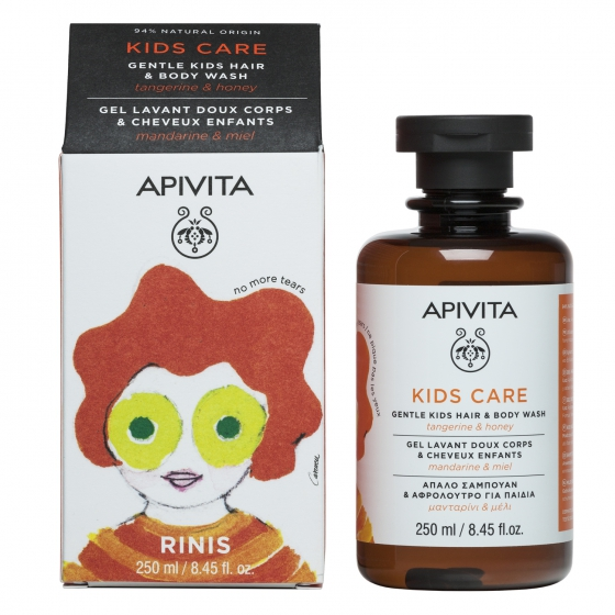 Apivita Gel de Limpeza Suave Cabelo & Corpo Infantil 250ml