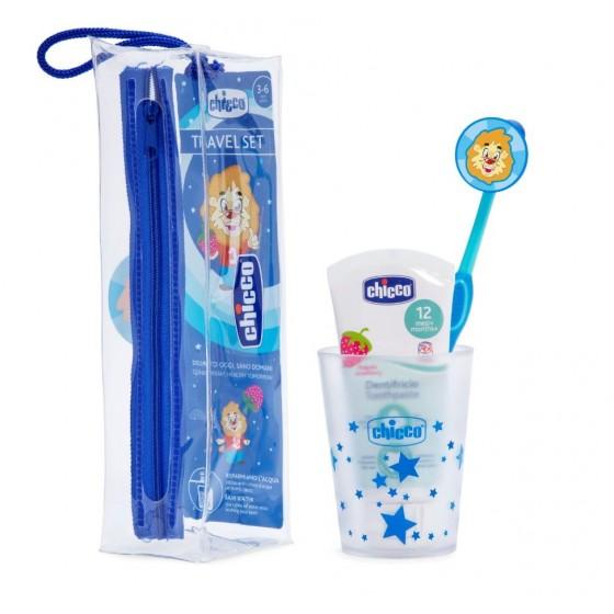 Ch.Hig8543200000 Chicco Conjunto de Higiene Oral Menino 3A-6A Azul