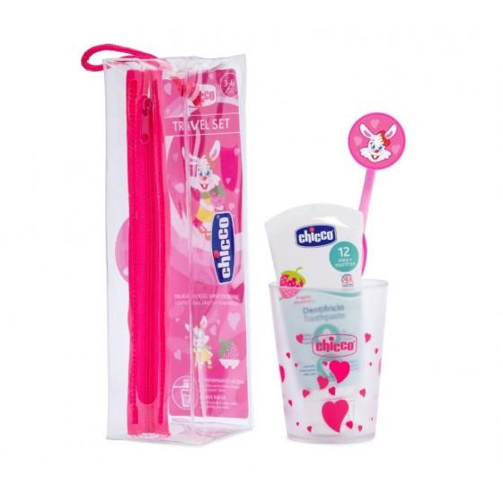 Ch.Hig8543100000 Chicco Conjunto de Higiene Oral Menina 3A-6A Rosa