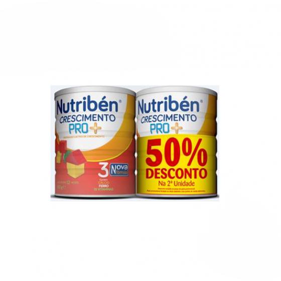 Nutribén Crescimento PRO+ Duo Leite em pó 2 x 800 g com Desconto de 50% na 2Ş Embalagem