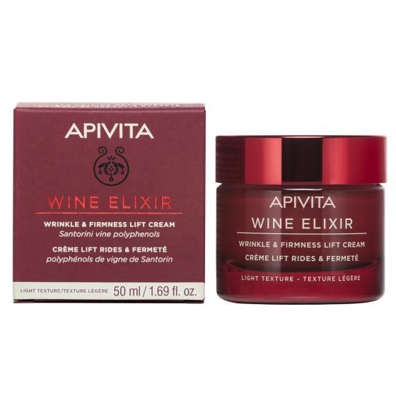 Apivita Wine Elixir Creme Antirrugas & Refirmante Com Efeito Lifting Textura Ligeira 50ml