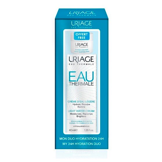 Uriage Eau Thermale Creme de água ligeiro 40 ml com Oferta de Máscara de noite 15 ml
