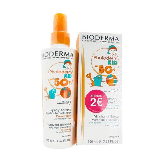 Bioderma Photoderm Kid SPF50+ Spray 200 ml + Bioderma Photoderm Kid SPF50+ Leite 100 ml com Preço especial de 2€