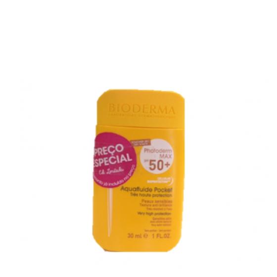 Bioderma Photoderm Max SPF50+ Aquafluide Pocket pele sensível 30 ml Ediçăo limitada com Preço especial