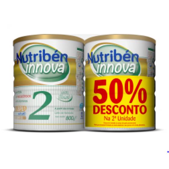 Nutribén Innova 2 Duo Leite de transiçăo 2 x 800 g Pack com Desconto de 50% na 2Ş Embalagem