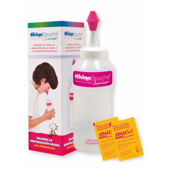 Rhinodouche Junior Sistema de lavagem nasal Garrafa + Sais de irrigaçăo 5 Saqueta(s)