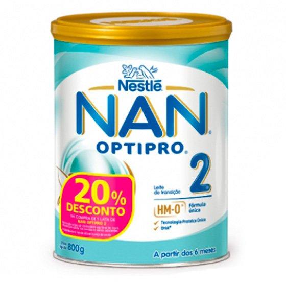 NAN Optipro 2 Leite de transiçăo 800 g com Desconto de 20%
