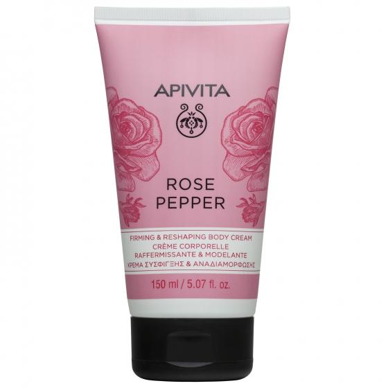 Apivita Rose Pepper Creme Hidratante Corporal Refirmante & Remodelante 150ml