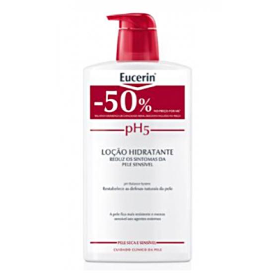 Eucerin pH5 Loçăo hidratante para pele sensível 1l com Desconto de 50%