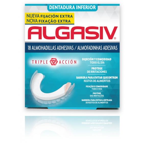 ALGASIV Inferior - Almofadas adesivas para Próteses Dentárias (x18)
