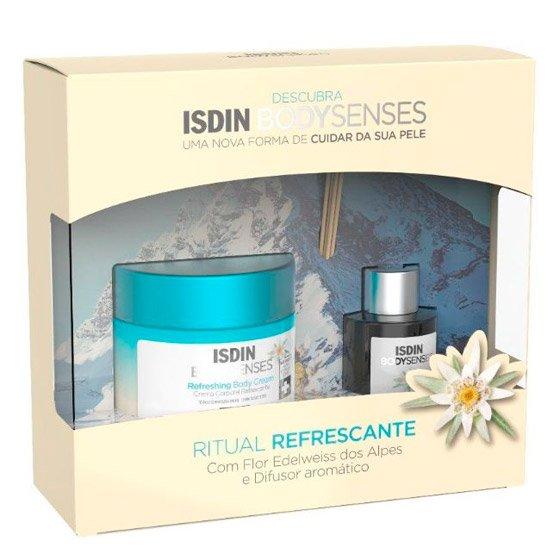 Isdin Bodysenses Ritual Refrescante com Flor Edelweiss dos Alpes Creme corporal 250 ml + Difusor aromático 50 ml