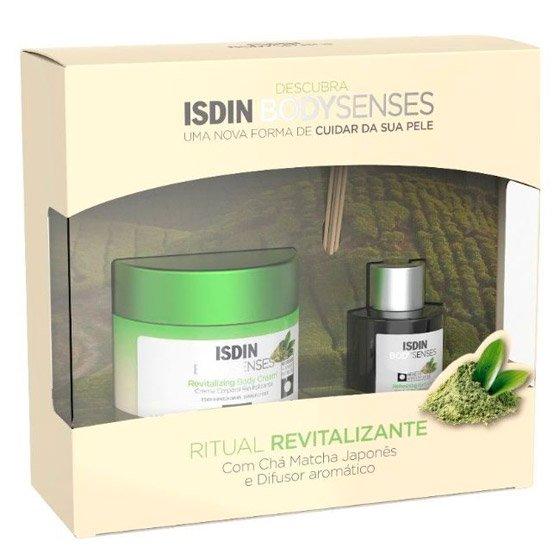 Isdin Bodysenses Ritual Revitalizante com Chá Matcha Japonęs Creme corporal 250 ml + Difusor aromático 50 ml