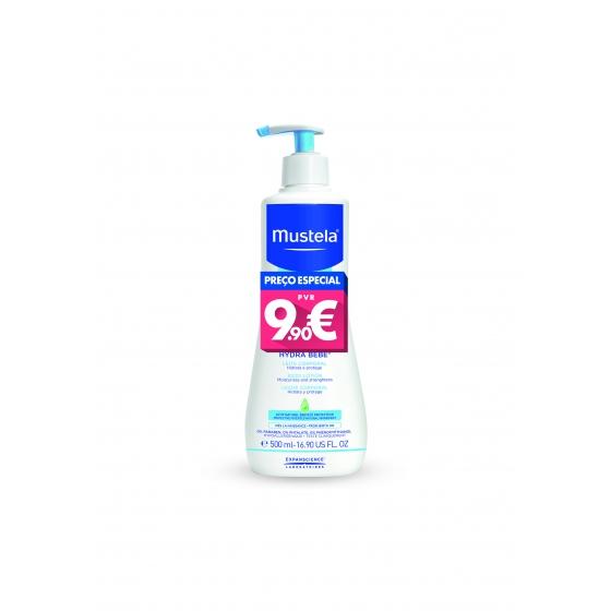Mustela Bebé Hydra-Bebé Leite Corpo Hidratante Pele Normal 500 ml Preço especial
