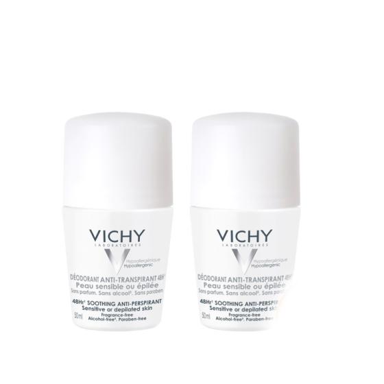 Vichy Duo Desodorizante Antitranspirante 48h Pele Sensível com Desconto de 2.5€