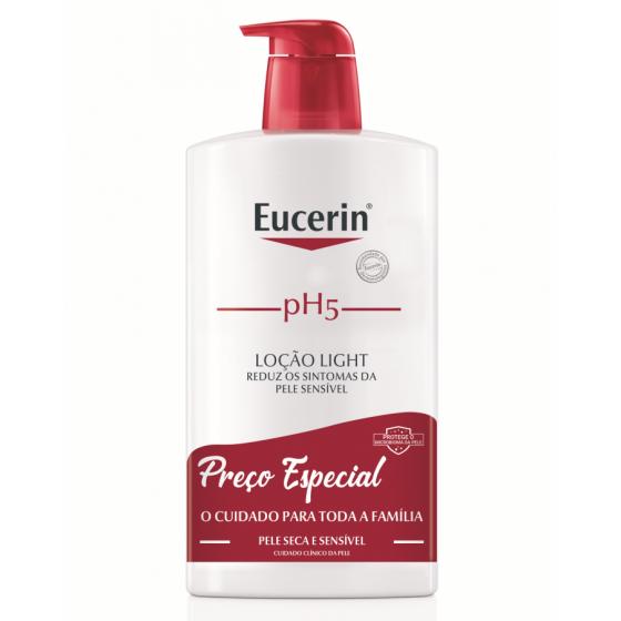 Eucerin pH5 Loção light para pele seca e sensível 1l com Preço especial