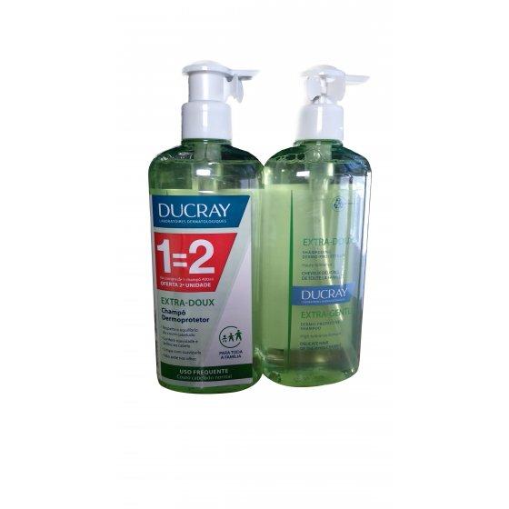 Ducray Extra-Doux Duo Champô hidratante Uso Frequente 2 x 400 ml