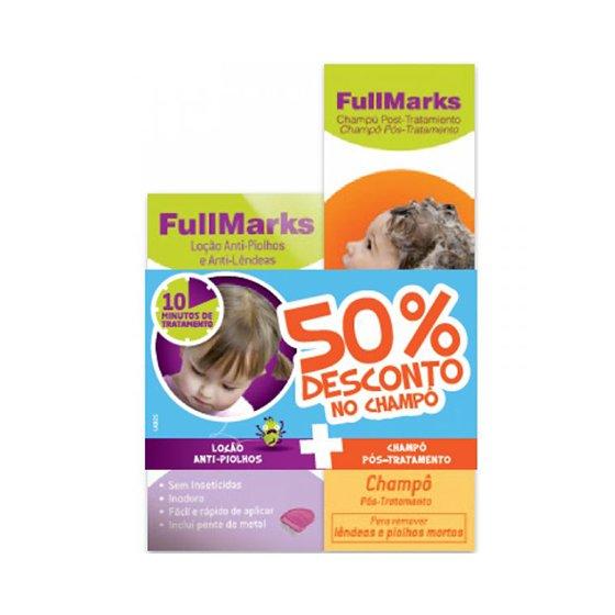 FullMarks Loçăo Piolhos/Lęndeas + Champô Pós tratamento com Desconto de 50%
