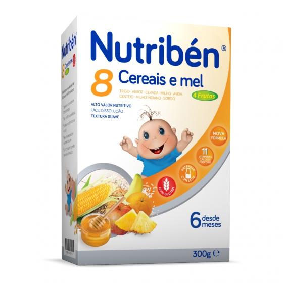 Nutribén 8 cereais e mel 4 frutas 300g