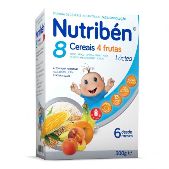 Nutribén 8 cereais 4 frutas LA 300g