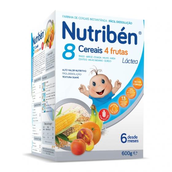 Nutribén 8 cereais 4 frutas LA 600g