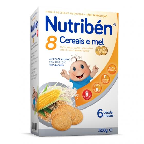 Nutribén 8 cereais e mel bolacha Maria 300g