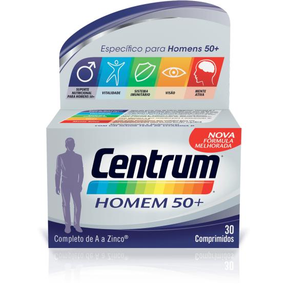 Centrum Homem 50+ Comp X 30 comps