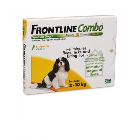 Frontline Combo Sol Cao 2-10kg 0,67mlx3  sol unçăo punctif VET