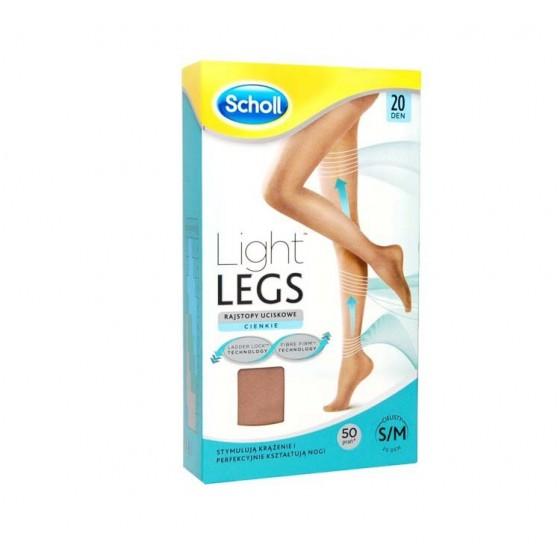 Scholl Light Legs Coll Comp 20den S Pele