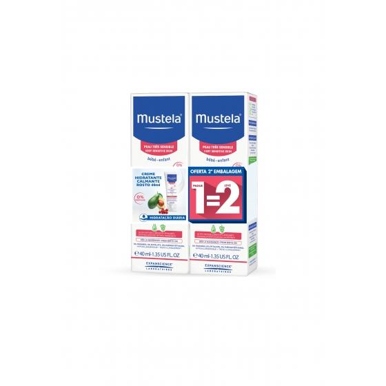Mustela Bebé Duo Creme Hidratante Calmante Facial 2 x 40 ml