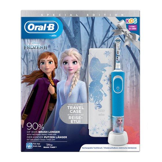 Oral-B Crianças Stages Power Frozen Escova Dentes Elétrica Infantil D12 com Oferta de Estojo