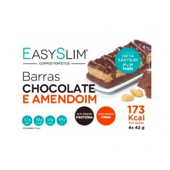 Easyslim Barras Chocol-Amendoim 42g X 4