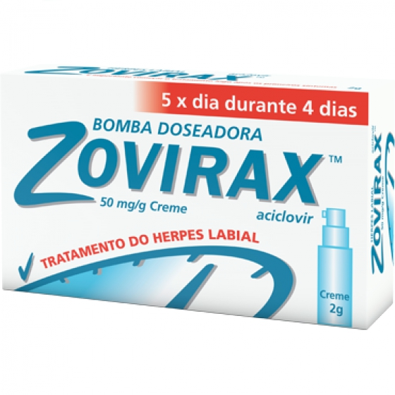 Zovirax, 50 mg/g-2 g x 1 creme bisnaga
