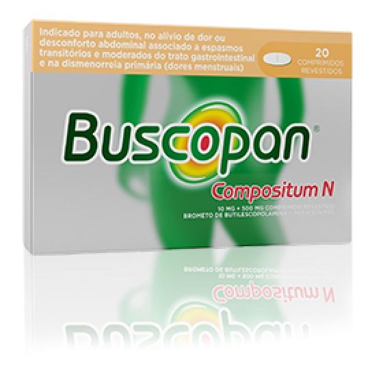 Buscopan Compositum N, 10/500 mg x 20 comp rev